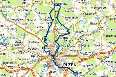 Trasa Okolo Horní Břízy 28-5-2013