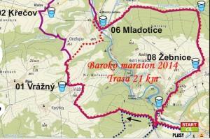 Baroko maraton 2014 - mapa