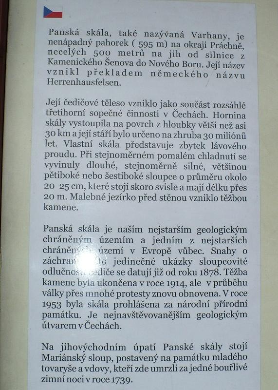 Panská skála - Varhany u Kamenického Šenova
