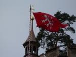 Detail hradní vlajky