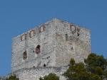 Detail hlavní věže hradu Rabí