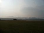 Ranní mlha nad Brdy
