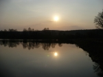 Západ slunce nad Padrťským rybníkem