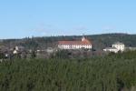 Detail hradu, zámku a kláštera v Rabštejně nad Střelou