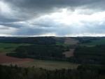 Výhledy z Kozelky a tmavé mraky