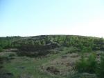Pohled z bunkru zpátky na vrchol Houpáku